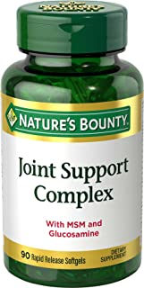 Nature's Bounty Joint Support Complex Pills and Dietary Supplement, Helps Maintain Joint Cartilage, 90 Softgels