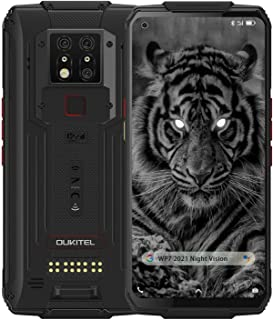 WP7 Rugged Smartphone, 2021 Night Vision Camera 6GB + 128GB Helio P90 Waterproof Unlocked Android 10 Cell Phone 6.53'' FH...