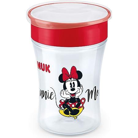 NUK Disney Magic Cup vaso antiderrame bebe, borde antiderrame de 360 °, 8+ meses, sin-BPA, 230 ml, Minnie Mouse, 1 cuenta