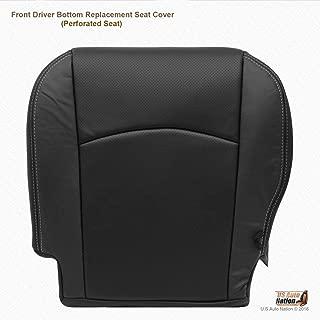 US Auto Nation Fits Dodge Ram 3500 Laramie Driver Side Bottom Leather Seat Cover Black