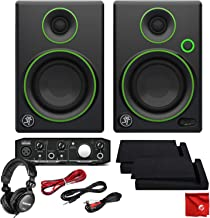 Mackie CR3 3-Inch Creative Reference Multimedia Monitors Bundle with Mackie Onyx Artist 1-2 USB Audio Interface and Tascam TH-02 Closed Back Studio Headphones