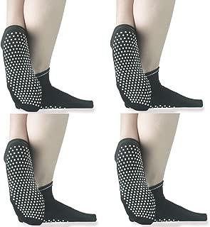 calzini da yoga per yoga pilates barre balletto fitness equilibrio casa e corpo riabilitazione Jooheli 4 paia di calzini da yoga antiscivolo per donna ospedale