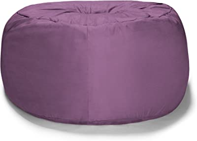 Liberator Zeppelin 7-Foot Giant Bean Bag Bed for Lovers, Aubergine