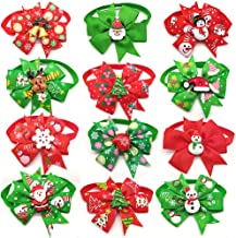 yagopet 10pcs/Pack Dog Christmas Bowtie Snowman Chrismas Tree Deer Center Cat Dog Ties Xmas Puppy Dog Neckties Bow Ties Festival Dog Collar Dog Grooming Accessories