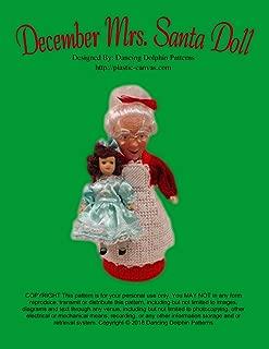 December Mrs. Santa Doll: Plastic Canvas Pattern