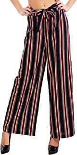3e2f9682a6fd3c Toocool - Pantaloni Donna Crop Pants Capri Fantasia Eleganti Lacci Palazzo  Sexy 32809-44