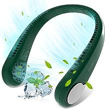 Portable Neck Fan - LOVNOV Hands Free Bladeless Neck Fan, 360° Cooling Hanging Fan, 3 Wind Speed Personal Neck Fan, Headph...