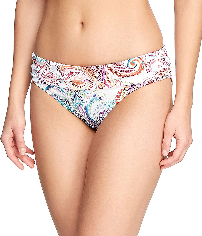 Lauren Ralph Lauren Womens Printed Hipster Swim Bottom Separates White