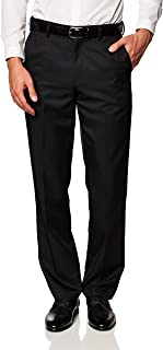 Amazon Essentials Men's Classic-Fit Expandable-Waist Flat-Front Dress Trousers