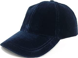 Women Texture Soft Velvet Navy/Grey Baseball Cap Gifts