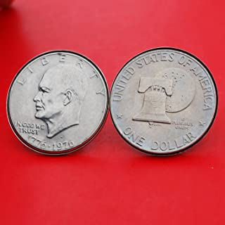 1976 silver dollar with liberty bell and moon