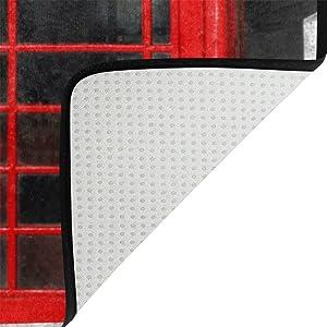Use7 London - Alfombra Antideslizante para el Suelo para el salón de los niños o el Dormitorio, Color Rojo, Tela, 100 x 150 cm(3' x 5' ft)