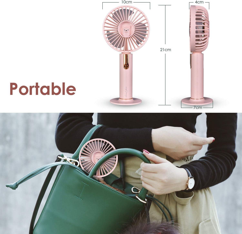 Portable Mini Fan,Caslon Handheld Rechargeable USB Fan with 3-Stage Air Volume Adjustment ,Desktop / Handheld Fan Heat for Office ,Outdoor