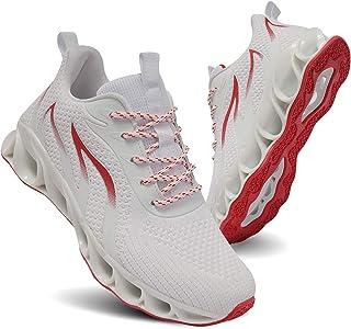 أحذية رياضية للنساء من TIAMOU أحذية الجري للنساء خفيفة الوزن رياضية تنس المشي أحذية بيضاء جيدة التهوية