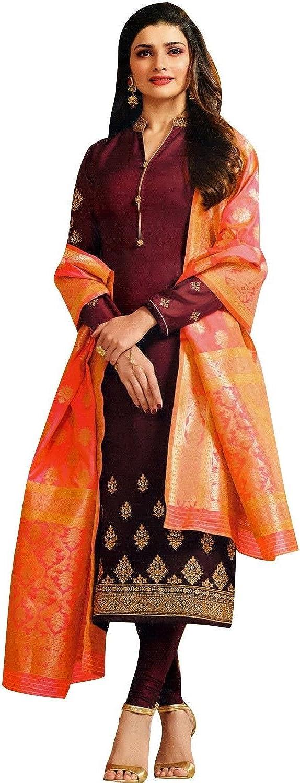 Designer Wedding Partywear Silk Embroidered Salwar Kameez Indian Dress Ready to Wear Salwar Suit Pakistani