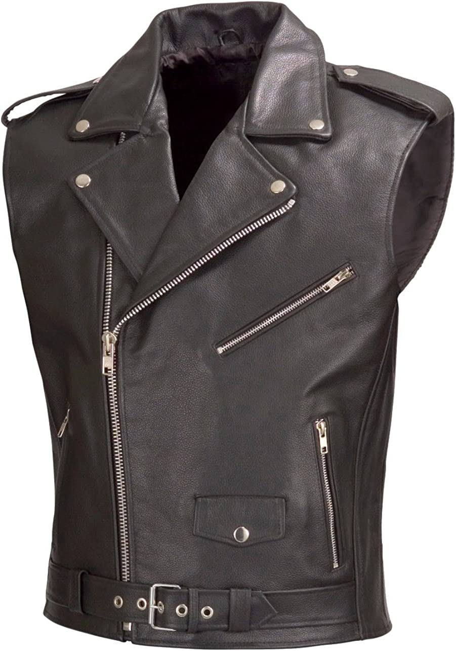 Classyak Men's Fashion Brando Biker Vest