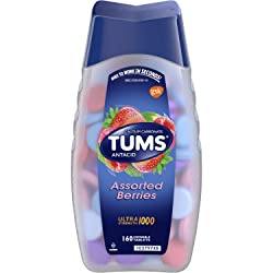 TUMS Ultra Strength Assorted Berries Antacid Chewable Tablets for Heartburn Relief, 160 count