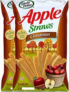 NEW Sensible Portions Apple Cinnamon StrawsGluten Free Multigrain Snack Net Wt 5oz (2)