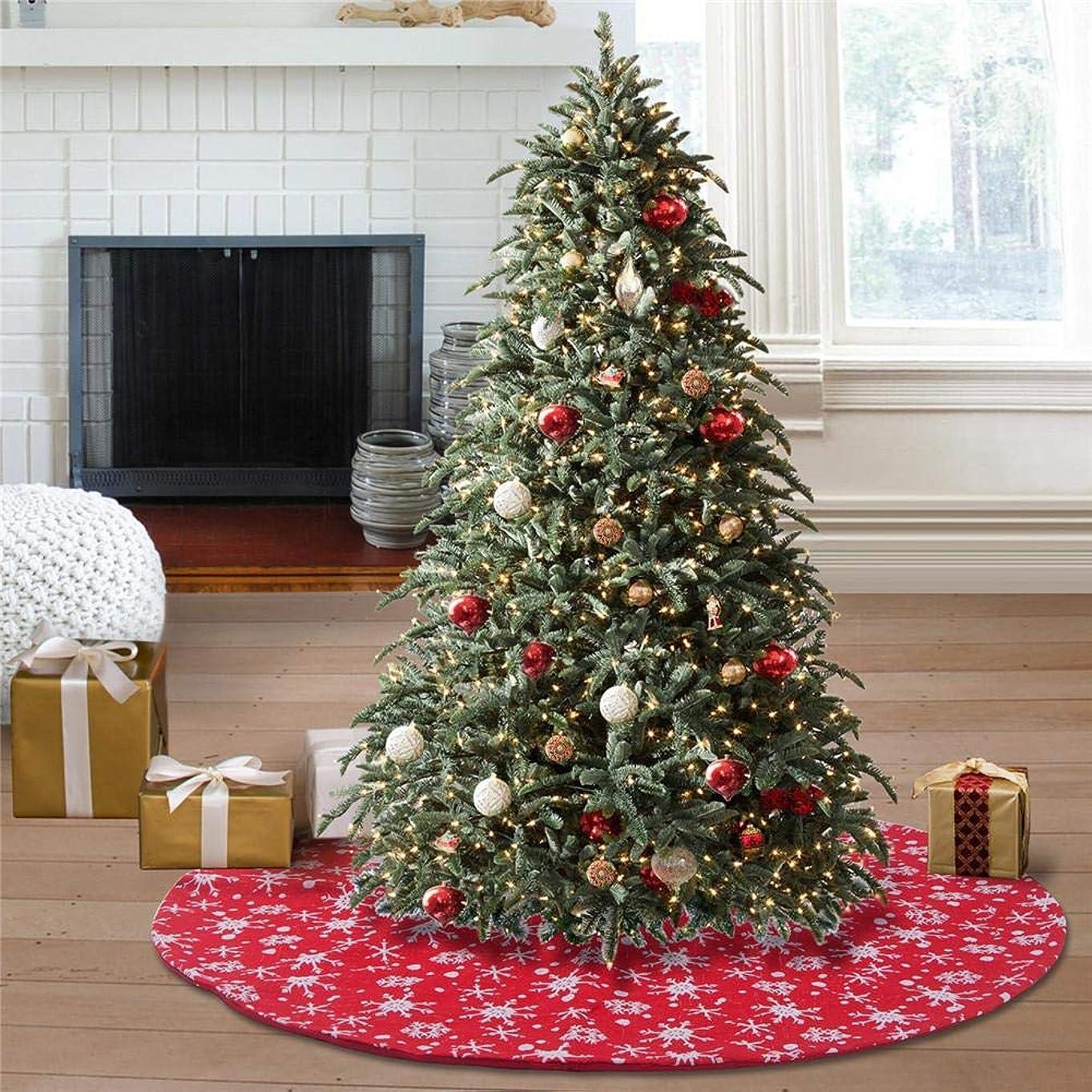 ただやるむしゃむしゃ集中クリスマスツリースカート、48インチスノーカーペットツリースカート、テーマお祝いパーティーの休日の装飾