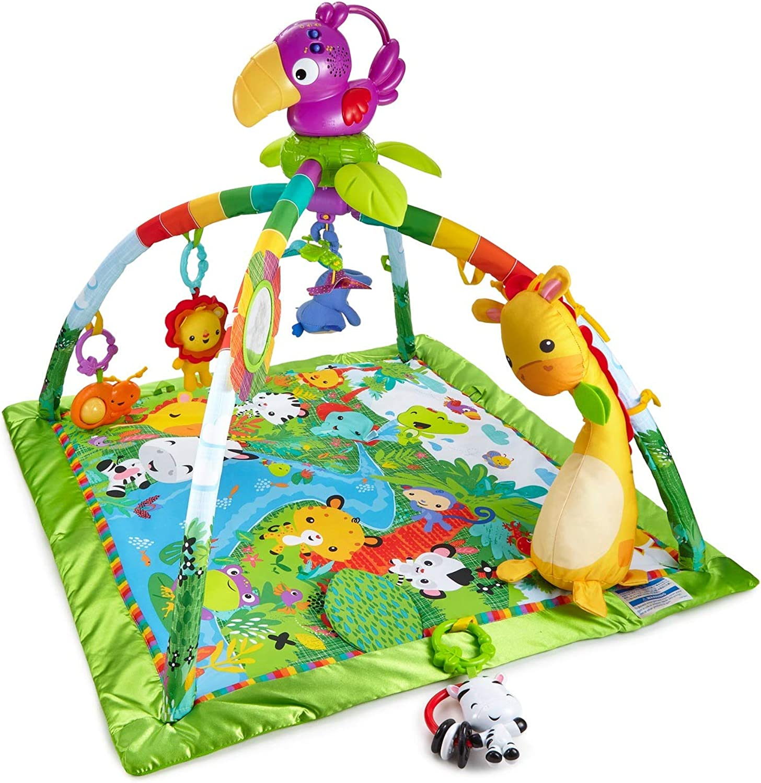 diseño único Fisher-Price Gimnasio Gimnasio Gimnasio deluxe animalitos de la selva, manta de juego bebé (Mattel DFP08)  Felices compras