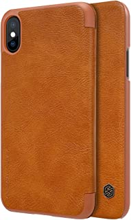 Nillkin iPhone X Case, Wallet Leather, insides slot, Brown