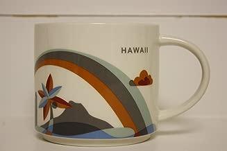 Starbucks Hawaii - You Are Here Collection Coffee Mug with Rainbow and Diamond Head (011023931)