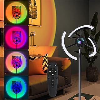 Viugreum Lampadaire sur Pied Salon, 3000~6500K Réglable/RGB Lampadaire LED Dimmable en Continu, Rotation de 360°, Luminosi...
