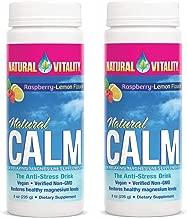 Natural Vitality Natural Magnesium Calm, Raspberry Lemon, 8 Ounce, 2 Pack