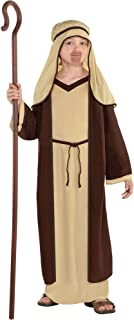 Amscan Brown Saint Joseph Costume for Boys, Bible Costumes for Kids, Medium, with Included Accessories