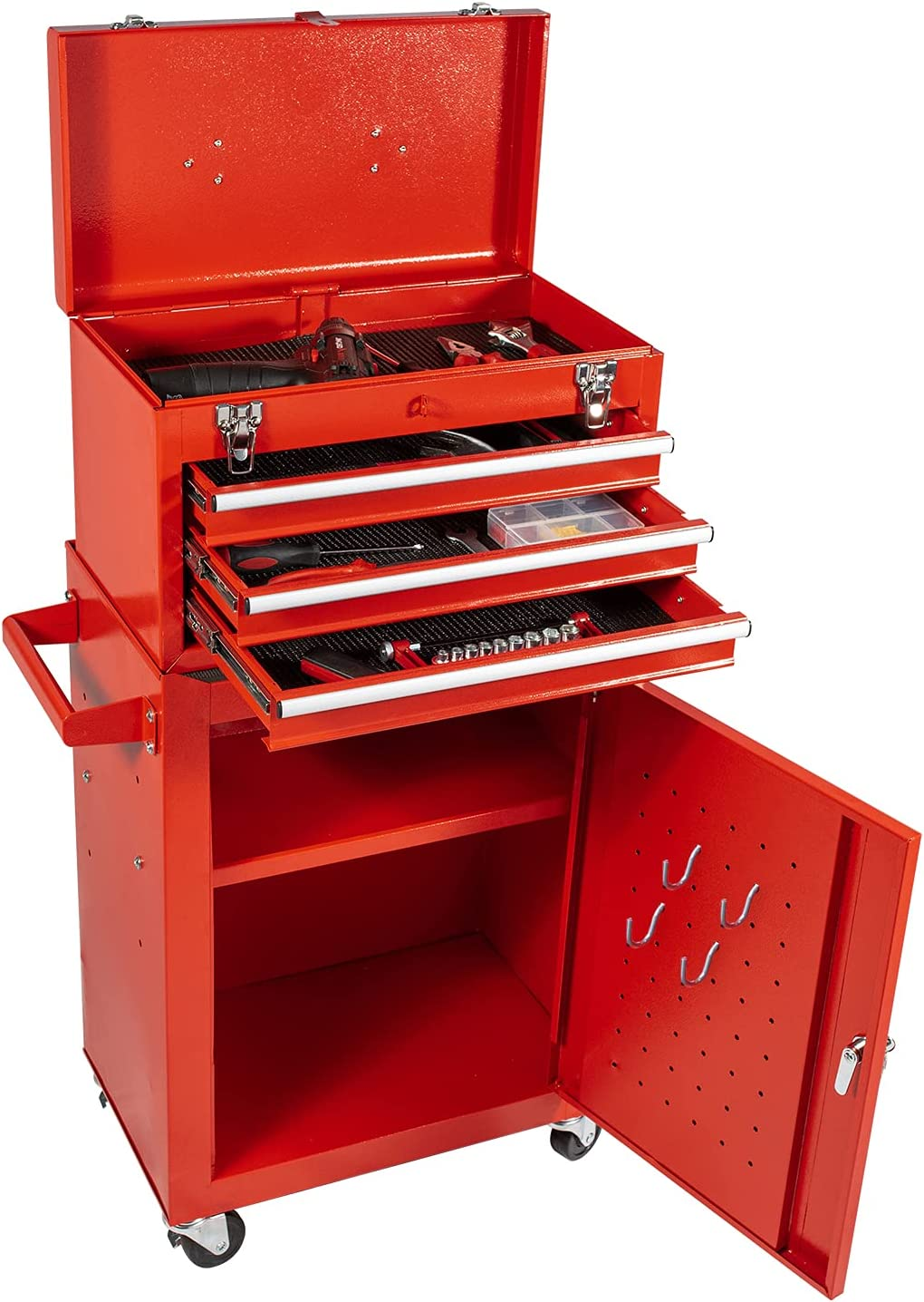 Rolling Tool 初売り Storage Box Chest 新商品 3 Cabinet Combo with