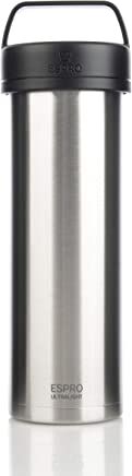 Espro 5116C-BS Ultralight Coffee Press, Vacuum Insulated, Stainless Steel, 16 oz (Brushed)