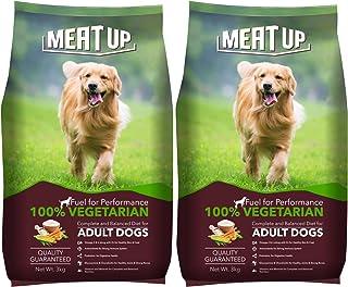 Meat Up 100% Veg Adult Dog Food, 3kg (Buy 1 Get 1 Free)