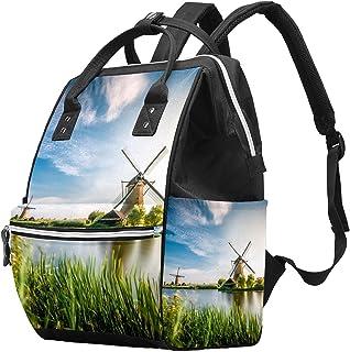 Egyptian Art Diaper Bag Backpack, Large Capacity Muti-Function Travel Backpack