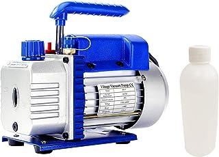 P PBAUTOS 3CFM 1/4HP Single-Stage Rotary Vane AC Vacuum Pump HVAC, Air Conditioner Maintenance, Food Packaging, Wine Degas...