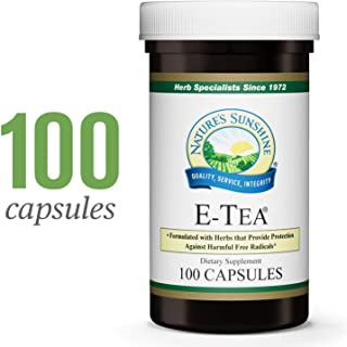 Nature's Sunshine E-Tea Capsules, 100 Capsules | Supports Immune System Function and Helps Detoxify The Blood in Convenient Capsules