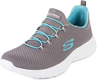 Skechers Women's Dynamight Grey/Light Blue Walking Shoes (12119-GYLB)