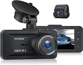 Toguard Dashcam Auto Vorne Hinten 1080P Full HD, Dual Autokamera 3 Zoll Bildschirm 170°..