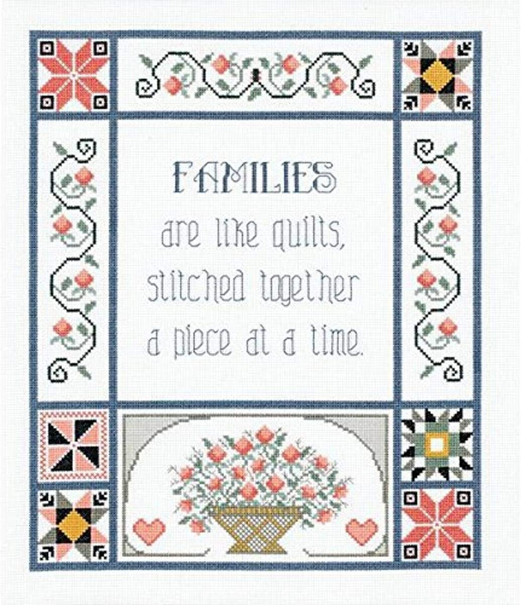 Janlynn 21-1743 trend rank Families are Like Stitch Omaha Mall Counted Ki Cross Quilts