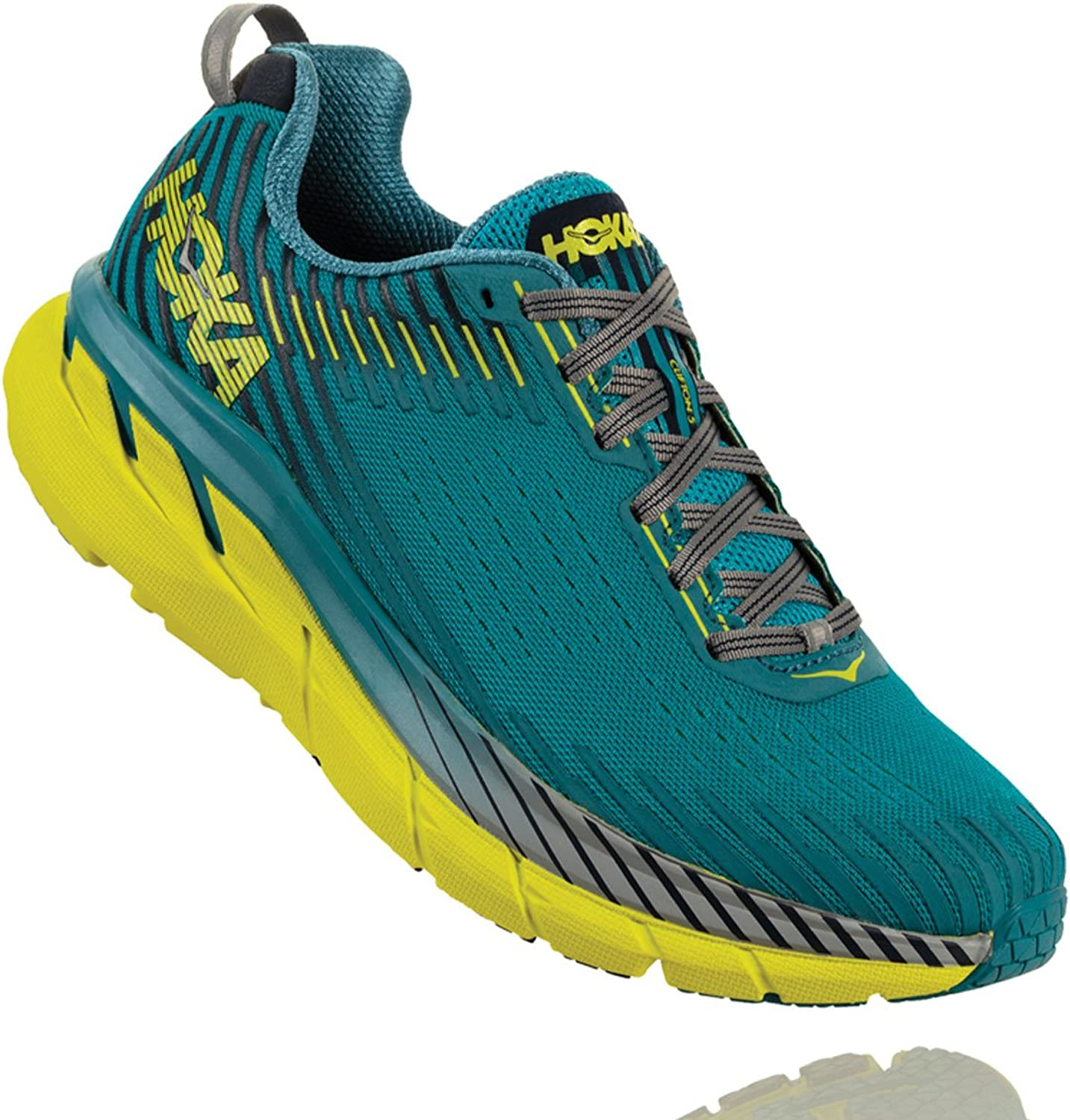 HOKA ONE ONE Men's Clifton 5 Running shoes Carribean Sea Storm bluee Size 11.5 D US