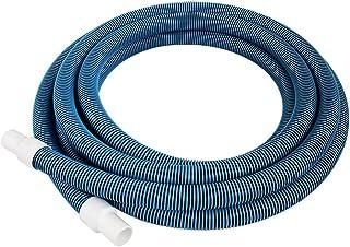 "Pool Mate 720-GEN Premium-Deluxe Blue/Black Spiral Wound Swimming Pool Vacuum Hose, 1-1/2"" X 25'"
