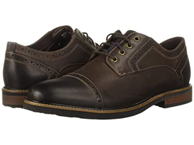 Nunn Bush Overland Cap Toe Oxford with KORE Walking Comfort Technology (Brown CH) Men