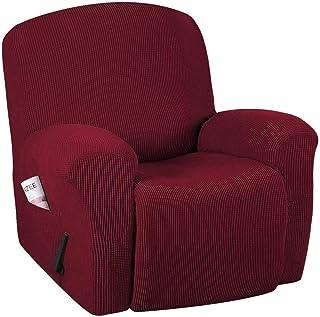 AQWESD Funda para sofá de Alta Elasticidad Funda para Silla reclinable Funda para Silla reclinable de 1 Pieza Funda para Muebles Funda, Lavable a máquina Lycra Jacquard