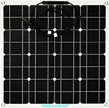 Solar Panel Charger, MOHOO 50W 18V 12V Ultra Thin Flexible Lightweight Cells Solar with MC4 Connector for RV Boat Cabin Tent Car (Compatibility with 18V and Below Devices)(Updated)