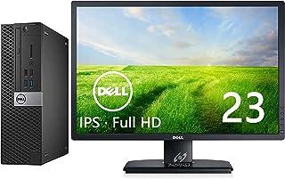 【Dell 23インチフルHD液晶セット】DELL OptiPlex 5040SFF/i5-6500/RAM:16GB/新品SSD:512GB/光学ドライブ/WiFi/Office/KB&マウス附/Win10/画面回転 高さ調整(整備済み品)
