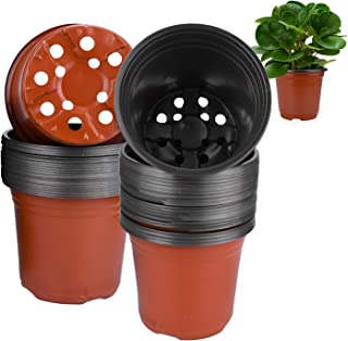 植木鉢 プラスチック製 プランター 栽培ポット フラワーポット 底穴あり ミニ 多肉 観葉植物 植物鉢 ハーブ 園芸 野菜栽培適用 家庭菜園 (トップ直径15cm)