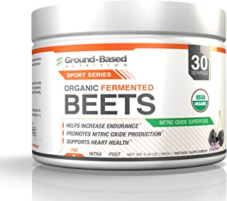 Plant-Based Organic Beet Root Powder - Natural Nitric Oxide Supplement - Improve Blood Flow, Circulation, Cardiovascular Endurance, Energy and Stamina - No Added Sugar