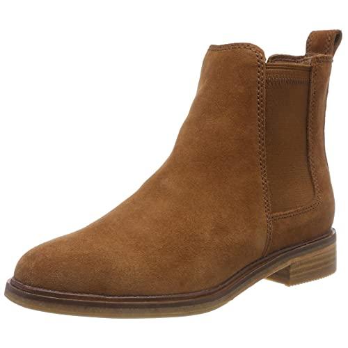 Boots Women's Shoes Punctual Clarks Genuine Leather Ankle Tan Suede Size 6 D Womens Ladies Boots Shoes Heels