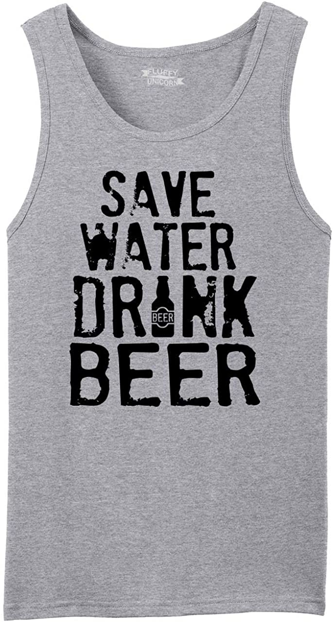 Comical Shirt latest Men's Save Water Manufacturer direct delivery Beer Top Tank Drink