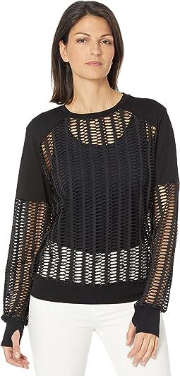Linear Mesh Sweatshirt