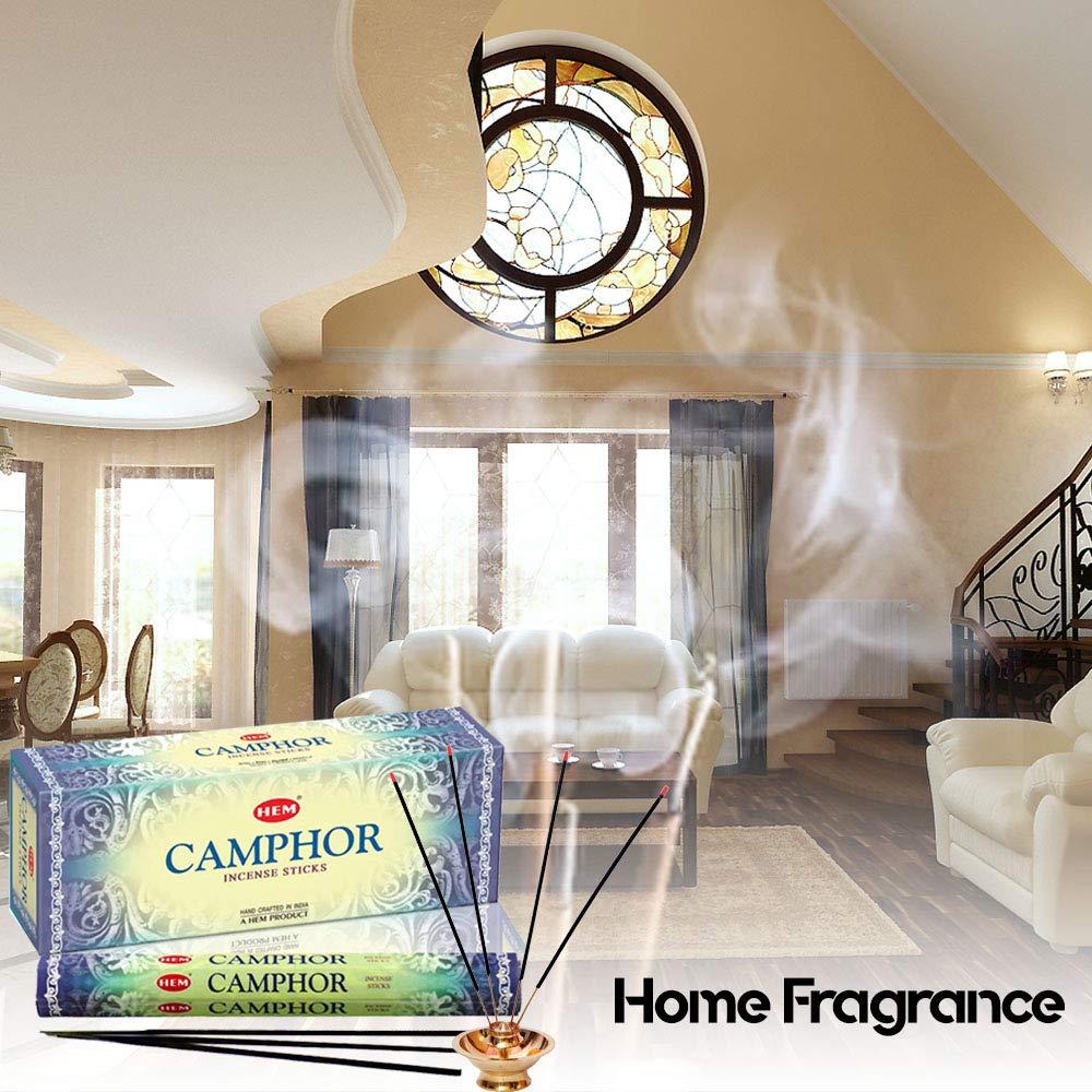 Camphor - Box of Six 20 Stick Tubes - Hem Incense (Standard Version)